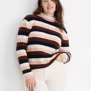 Madewell Striped Evercrest Turtleneck Sweater 2X